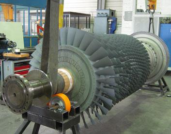 Projection-HVOF-sur-rotor-de-turbine