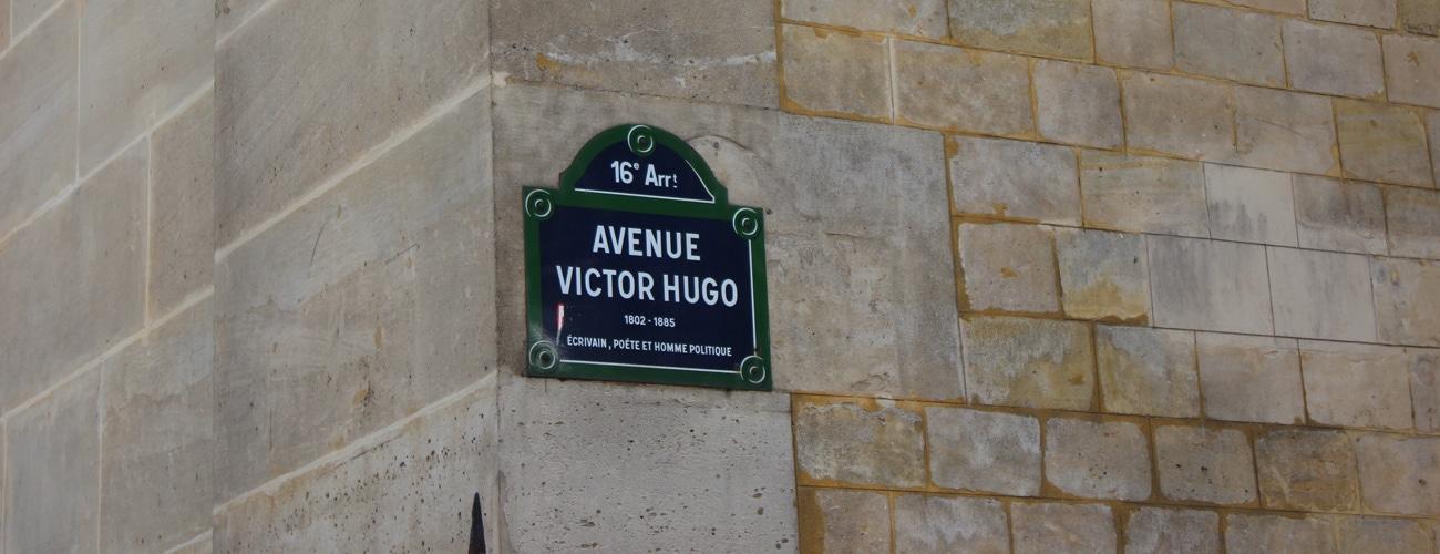 Plaque de la rue Victor Hugo